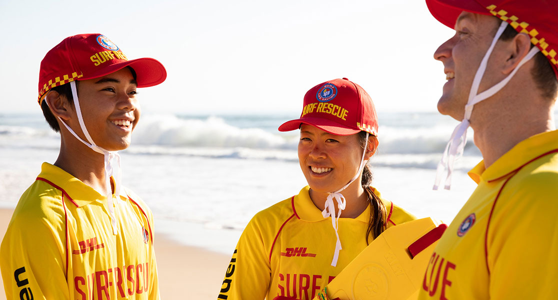 Surf lifesavers on patrol