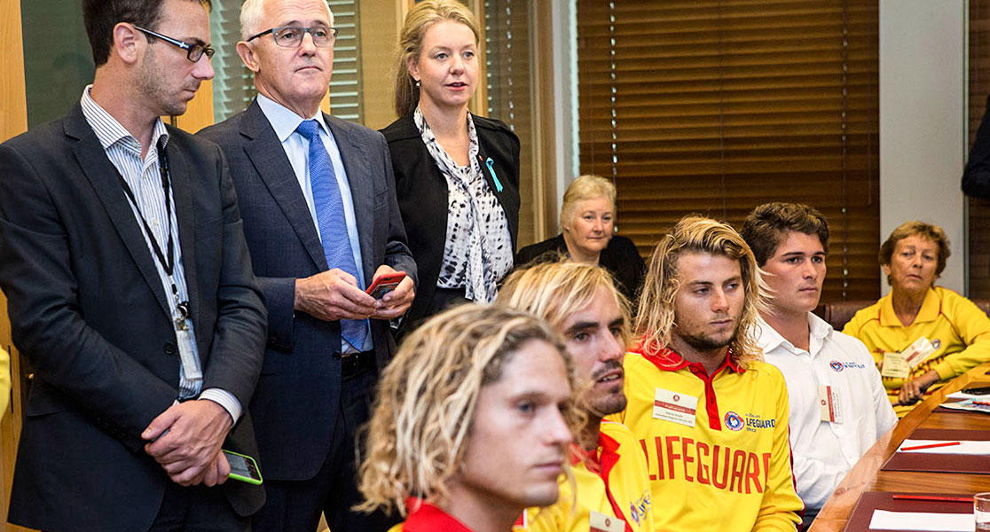 Rescue of the Month winners at Parliament House