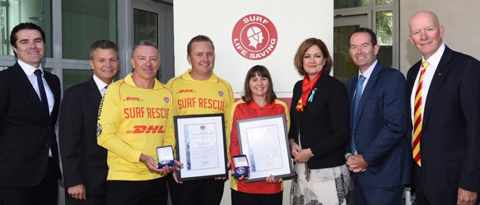 Lifesavers, MP's and Graham Ford AM line up at Parliament House
